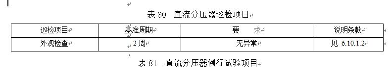 第6.10章直流分压器检修试验要求规程